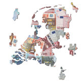 Dutch euros Map jigsaw Royalty Free Stock Photos