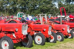 Dutch exposition of tractors during the agricultural festival Flaeijel Stock Photos