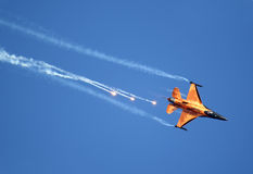 Dutch F-16 Demo Team Royalty Free Stock Images