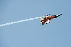 Dutch F-16C Fighting Falcon Fighter in Piestany Royalty Free Stock Photo