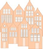 Dutch facades vector Royalty Free Stock Image