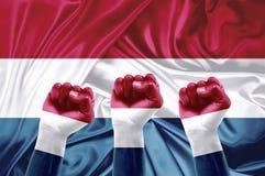 Dutch fans Stock Images