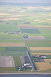 Dutch farm landscape from above on island Texel Royalty Free Stock Photo