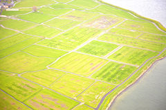 Dutch farm landscape from above Stock Photography
