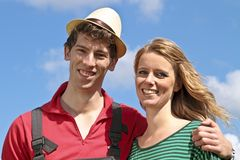 Dutch farmer and his wife Stock Photography