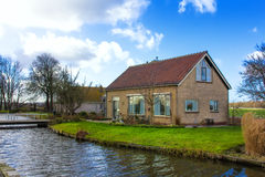 Dutch farmer house. Dutch spring rural house nearby Leischendam, The Hague, Netherlands Stock Photo
