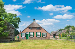 Dutch farmhouse. Typically dutch farmhouse in staphorst. The community of Staphorst is known as one of the most religious in the Netherlands and has a very Stock Images