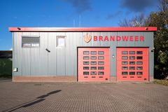 Dutch fire station royalty free stock photos