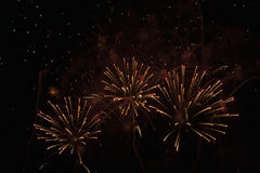 Dutch fire works Fireworks. Fireworks during the fair of Hoorn, Netherlands Stock Images
