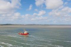 Dutch fishing boat at wadden sea Royalty Free Stock Image