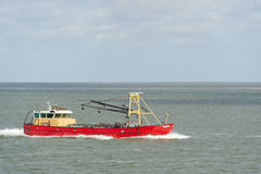 Dutch fishing boat at wadden sea Royalty Free Stock Images