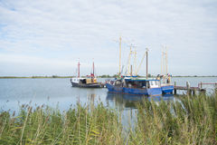 Dutch fishing boats Royalty Free Stock Images