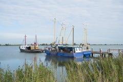 Dutch fishing boats Royalty Free Stock Photo