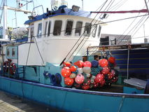 Dutch fishing vessel. In the harbor Stock Image