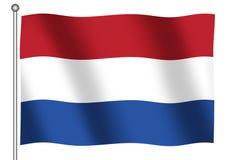dutch flagę Obrazy Stock