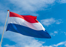 Dutch flag. Blowing in the wind Stock Photo
