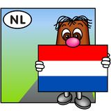 The Dutch Flag Royalty Free Stock Photography