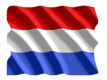 Dutch flag. Dutch or holland flag waving in wind illustration Stock Illustration