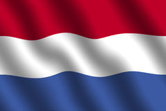 Dutch Flag. Flag of holland with waving effect Stock Images