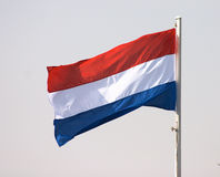 Dutch flag. Holland's national flag royalty free stock image