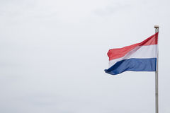 Dutch flag flying in the wind Stock Photo