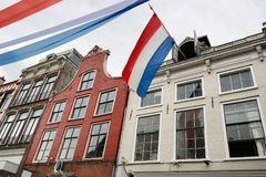 Dutch Flag on Kings day Royalty Free Stock Photo