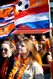 Dutch flag - Koninginnedag 2011. Koninginnedag or Queens Day is a national holiday in the Netherlands, the Netherlands Antilles, and Aruba on 30 April or on 29 Royalty Free Stock Photo
