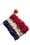 Dutch flag made of flowers Stock Photography