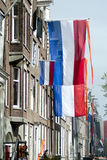 Dutch flag on Queens Day 2013 Royalty Free Stock Photography