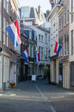 Dutch Flags Line City Street Royalty Free Stock Photos
