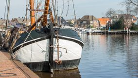 Dutch flatboat Royalty Free Stock Photos