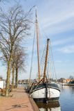 Dutch flatboat Stock Images