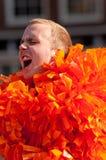 Dutch footbal fans Stock Images