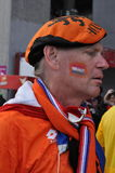 Dutch football fan Royalty Free Stock Photography