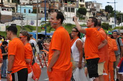 Dutch football fans at Arena Fonte Nova Royalty Free Stock Photos
