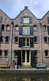 Dutch four story canal house Royalty Free Stock Photography