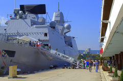 Dutch frigate,Varna port,Bulgaria Stock Image
