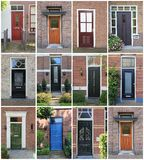 Dutch front doors. Royalty Free Stock Photos