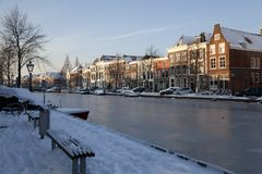Dutch frozen canal Stock Photography