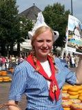 Dutch girl. At Alkmaar cheese market in Nederland Stock Photos