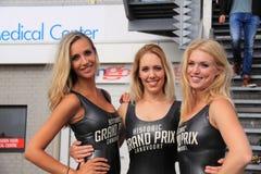 Dutch grid girls promotion team zandvoort stock photos