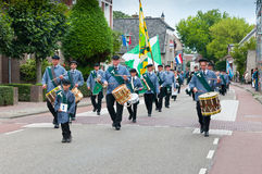 The Dutch Guild St. Antonius Abt. Guild Festival to mark the 460 anniversary of the Archers Guild of St. Antonius Abt from the Dutch village of Terheijden (North Stock Photos