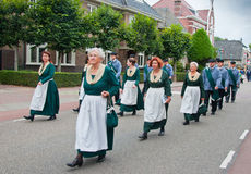 The Dutch Guild St. Antonius Abt. Guild Festival to mark the 460 anniversary of the Archers Guild of St. Antonius Abt from the Dutch village of Terheijden (North Royalty Free Stock Photography