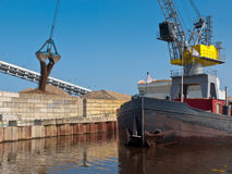 Dutch harbor scene Stock Photo
