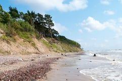 Dutch hat (olando kepure) II. Dutch hat (olandu kepure) -Baltic sea coast near Karkle, Klaipeda, Lithuania Stock Photos