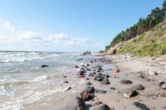 Dutch hat (olando kepure). Dutch hat (olandu kepure) -Baltic sea coast near Karkle, Klaipeda, Lithuania Royalty Free Stock Photo