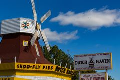 Dutch Haven in Ronks. Ronks, PA, USA - October 6, 2015: Dutch Haven, located along Route 30 in Lancaster County, is a bakery selling shoo fly pies Royalty Free Stock Photo