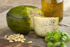 Dutch herbal and pesto cheese Royalty Free Stock Image