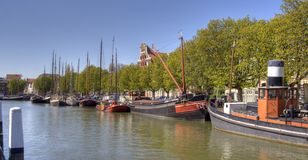 Dutch Historic Boats Royalty Free Stock Photography