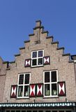 Dutch historic facade 1. Dutch historic facade stock image